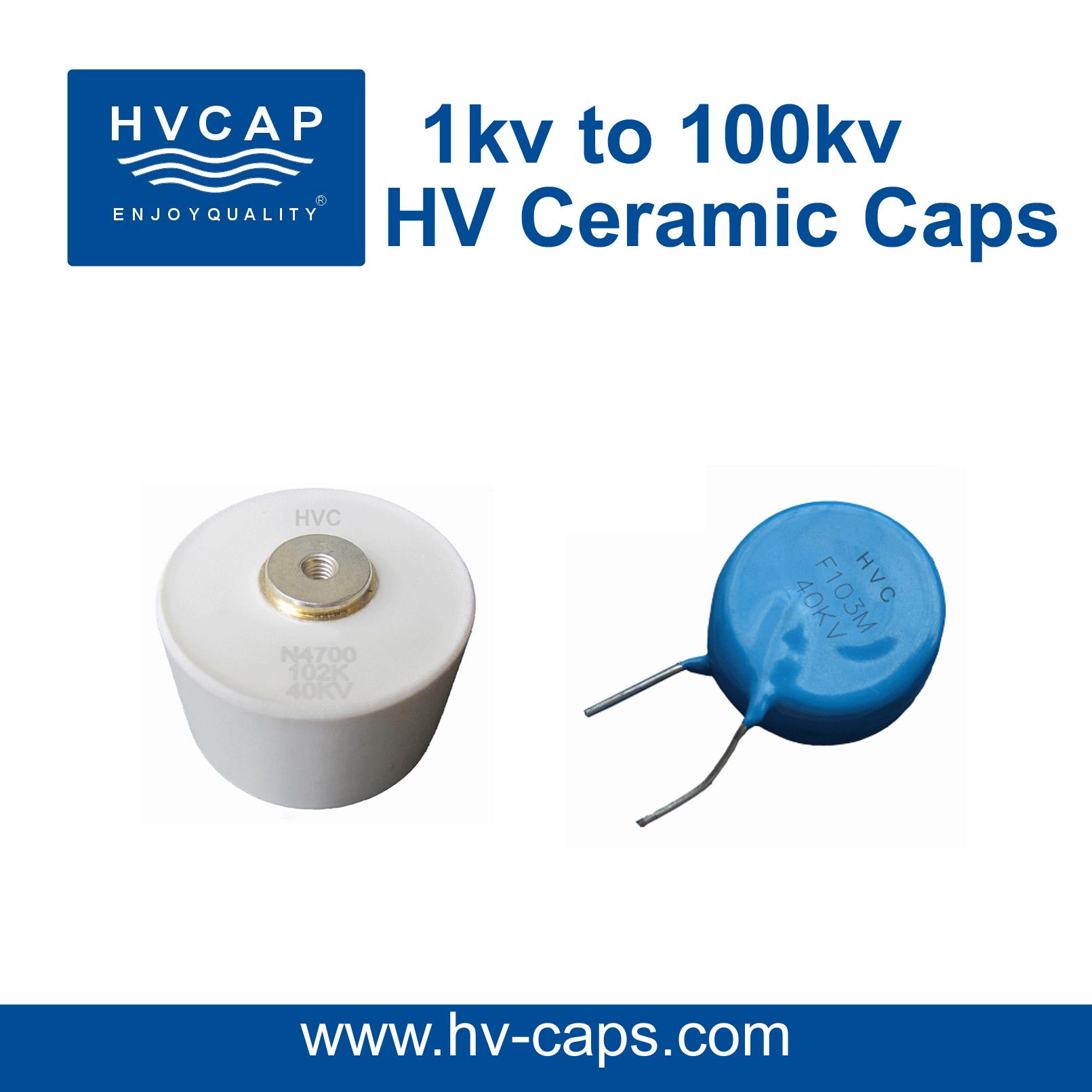HV Keramiek Kapasitor 1kv na 100kv, detail spesifikasie.