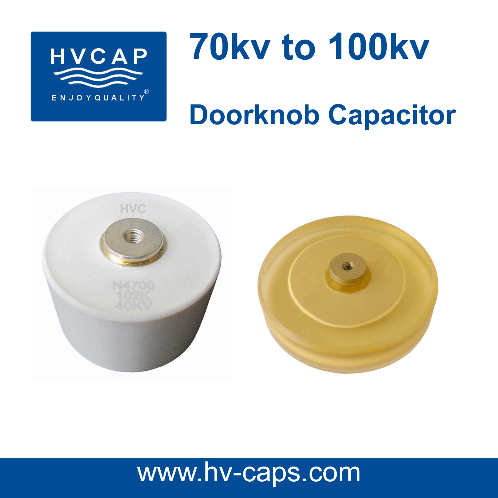 High Voltage Ceramic Doorknob Capacitor 70kv-100kv specifica