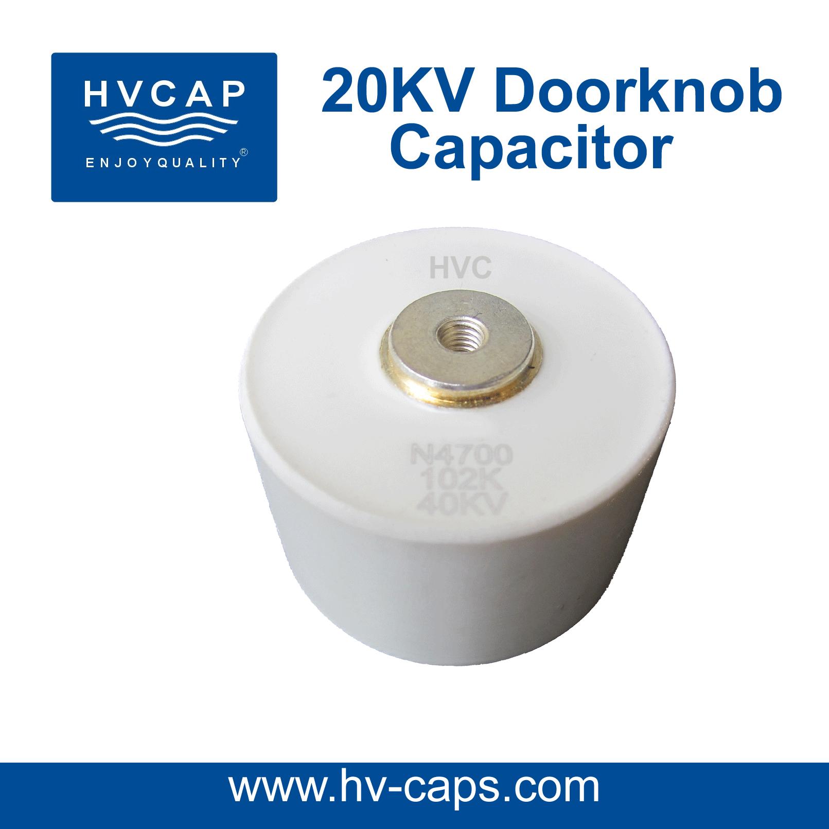 উচ্চ ভোল্টেজ সিরামিক Doorknob ক্যাপাসিটরের 20kv স্পেসিফিকেশন।