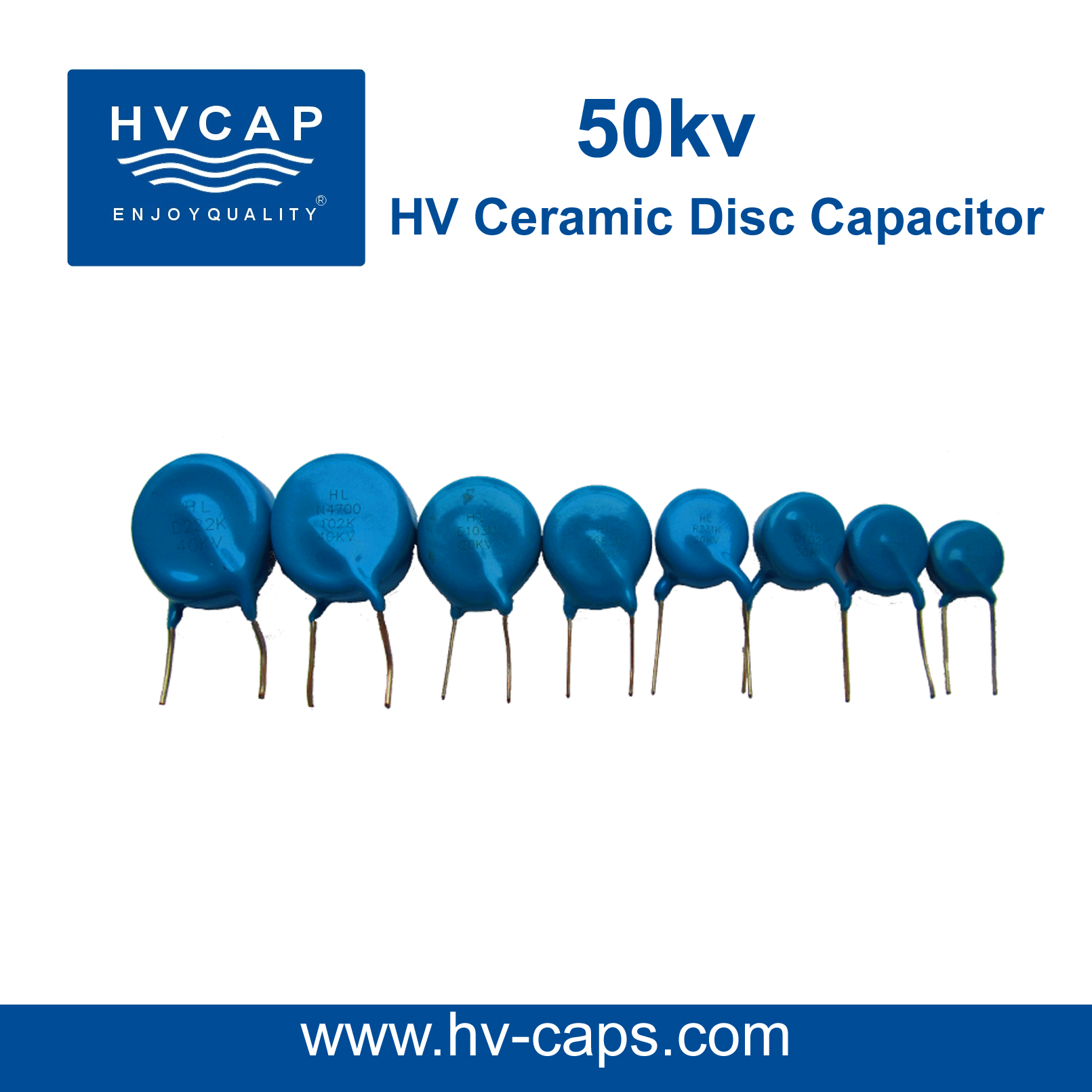 High Voltage Keramiek Kapasitor 50kv detail spesifikasie.