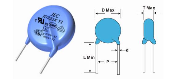 10/x 68PF 3/kV 3000/V HV ad alta tensione a disco in ceramica condensatore