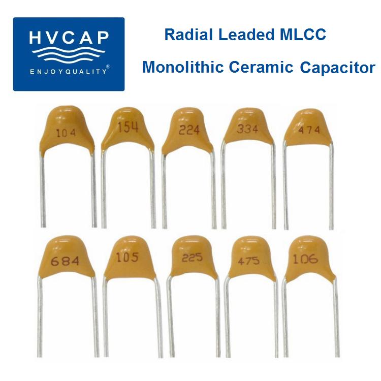 104 keramički kondenzator, monolitni keramički kondenzator, radijalni vod MLCC