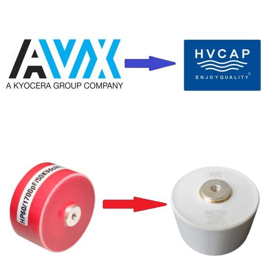 Alternativna zamjenska poprečna referenca za AVX kondenzator kvake HP / HW / HK / HD / HE / HZ