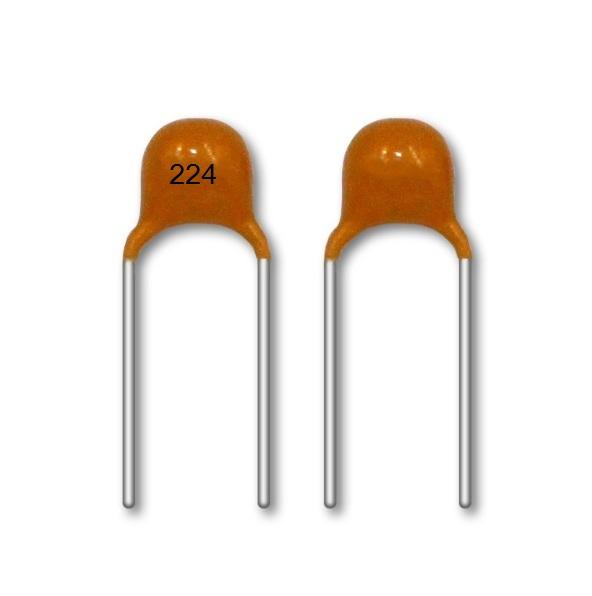 50V 224M 0.22UF 5.08mm ± 20% Radiale MLCC