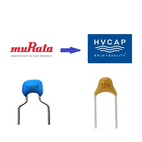 Murata TDK Radial Leaded MLCC Replacement Alternative Equivalent by HVC Capacitor