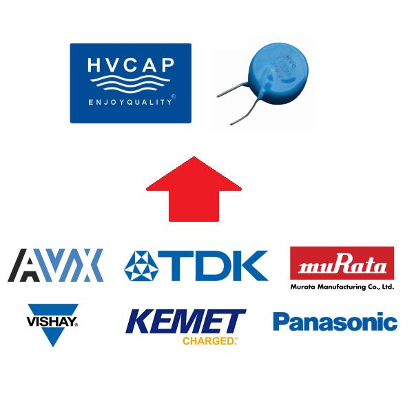 Alternatiewe vervanging vir EOL (Verouderde) Keramiek Kondensator van AVX, KEMET, TDK, MURATA, PANASONIC