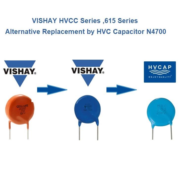 Альтернативная замена высоковольтного керамического конденсатора Vishay HVCC Series Y6P на высоковольтный конденсатор серии N4700