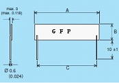 GFP/GHP Series Thick Film Planar Resistors, High Voltage