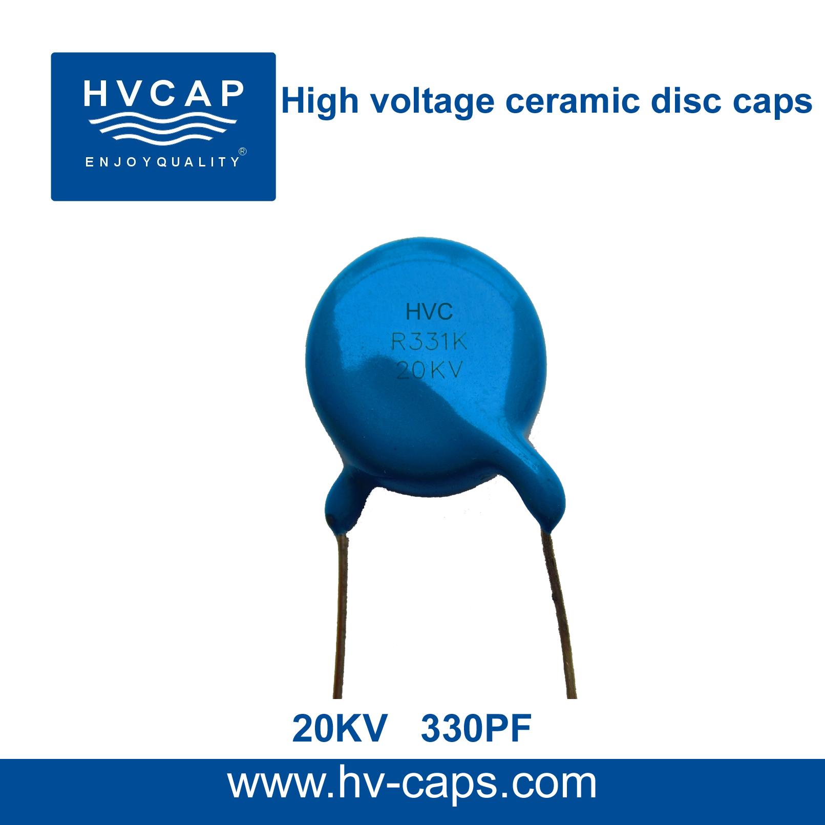 Visokonaponski keramički disk kondenzator 20KV 330PF (20KV 331K)