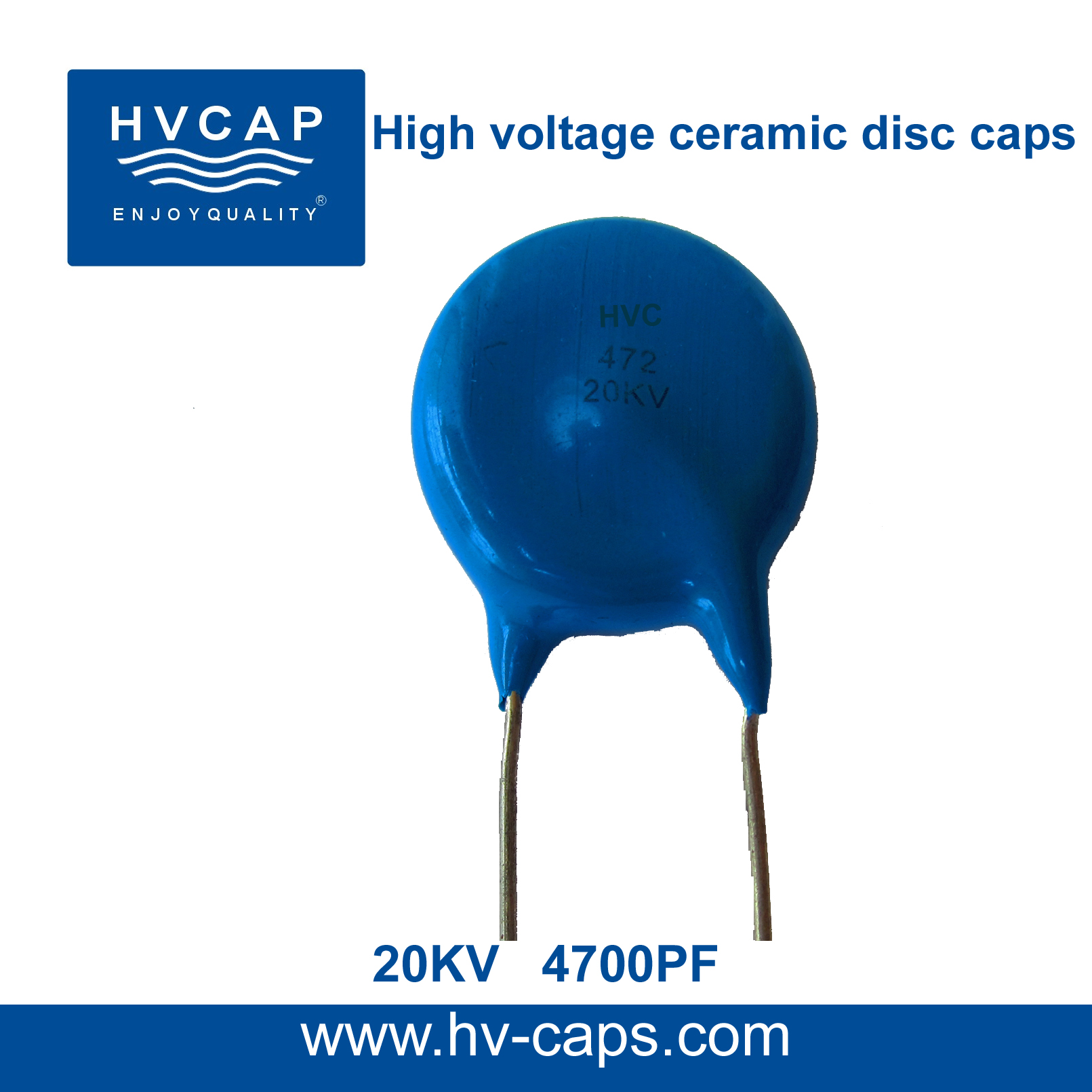 Hoë Spanning Keramiese Skyfkondensator 20KV 4700PF (20KV 472M)