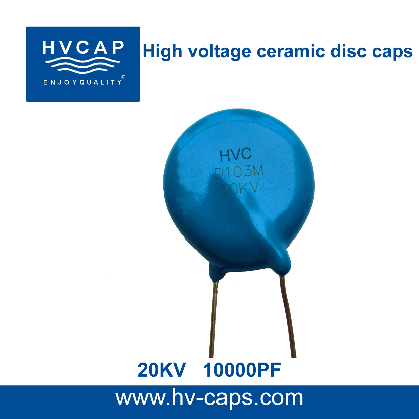 High Voltage Ceramic Disc Capacitor 20KV 10000PF(20KV 103M)