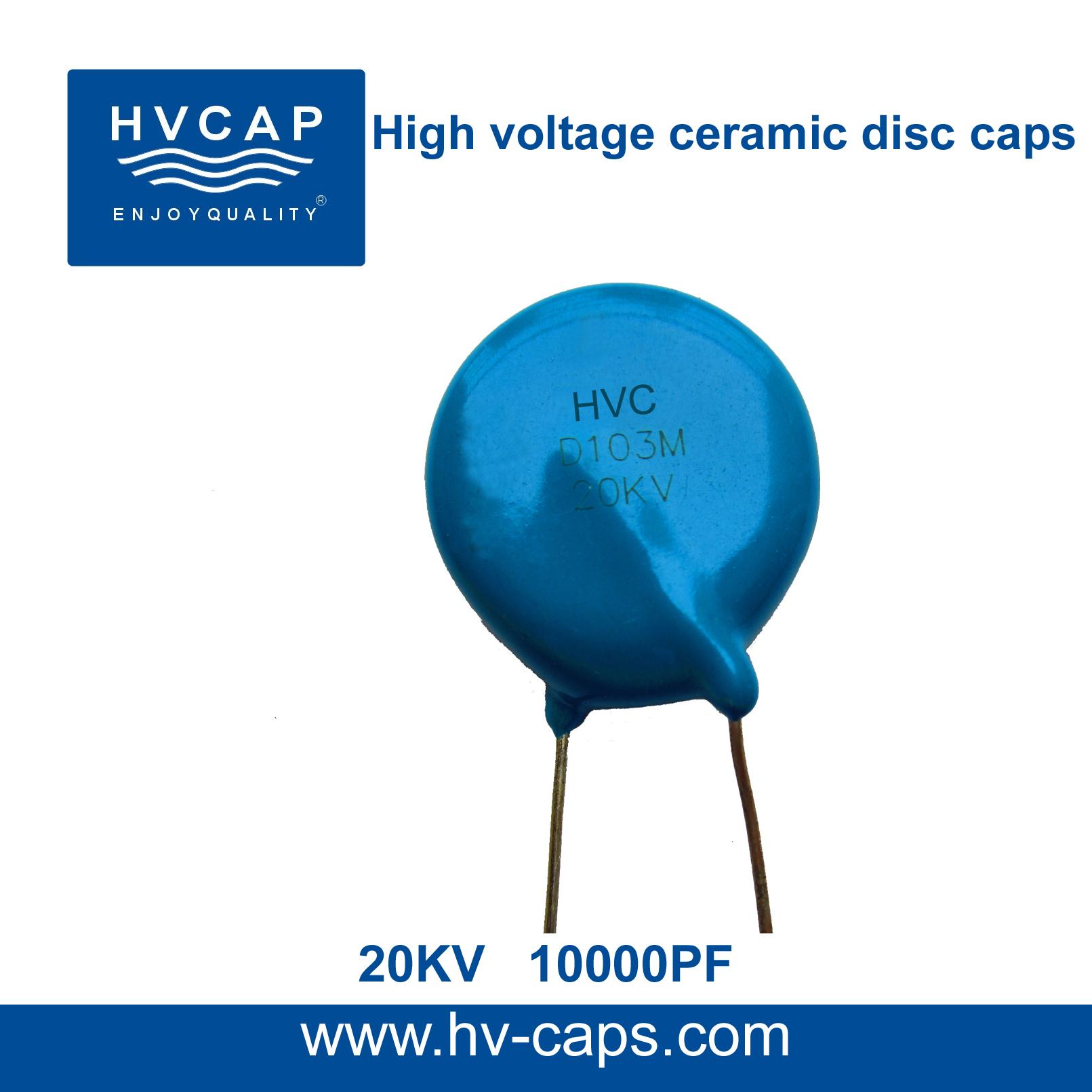 Hoë Spanning Keramiese Skyfkondensator 20KV 10000PF (20KV 103M)