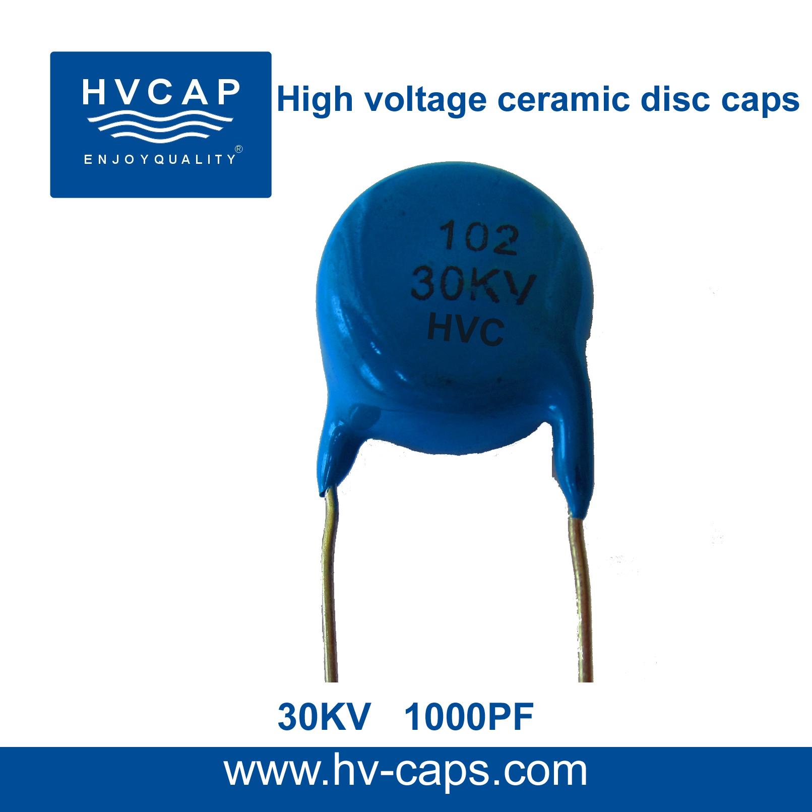 Hoë Spanning Keramiese Skyfkondensator 30KV 1000PF (30KV 102M)