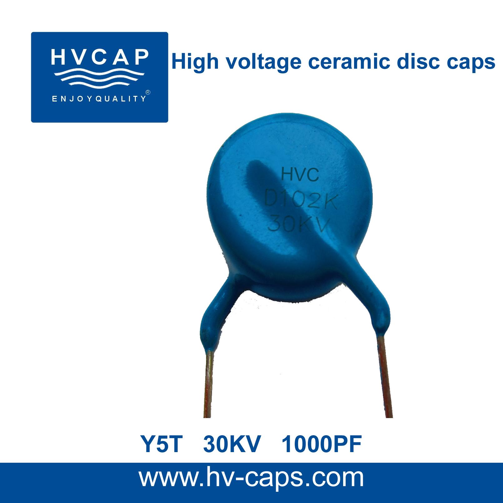 Hoë Spanning Keramiese Skyfkondensator 30KV 1000PF (30KV 102K)