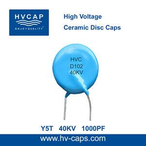 Hoë Spanning Keramiese Skyfkondensator 40KV 1000PF (40KV 102M)